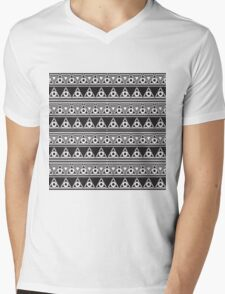 Psychedelic  Triangles and Circles Mens V-Neck T-Shirt
