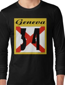 ALABAMA:  34 GENEVA COUNTY Long Sleeve T-Shirt