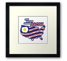 One Nation Under BACON Framed Print