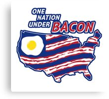 One Nation Under BACON Canvas Print