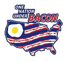 One Nation Under BACON Photographic Print