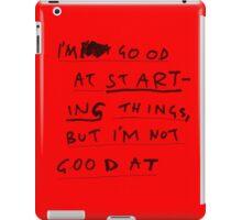 FINISHING THINGS iPad Case/Skin
