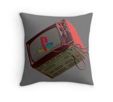 RETRO-CRT - SONY PlayStation Throw Pillow