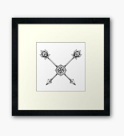 Ornate Arrows Framed Print