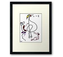 da singers and da dog Framed Print