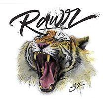 Tiger Rawr by psydrian