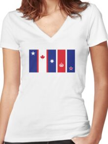 The Five Eyes Women's Fitted V-Neck T-Shirt