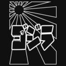 Godzilla Kanji-Wht by kanjitee
