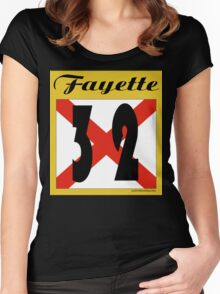 ALABAMA:  32 FAYETTE COUNTY Women's Fitted Scoop T-Shirt