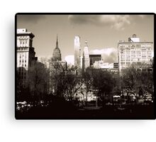 NYC skyline from Union Square  Canvas Print