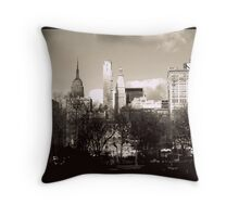 NYC skyline from Union Square  Throw Pillow