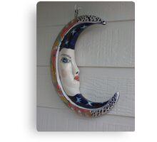 Moon Ceramic Canvas Print