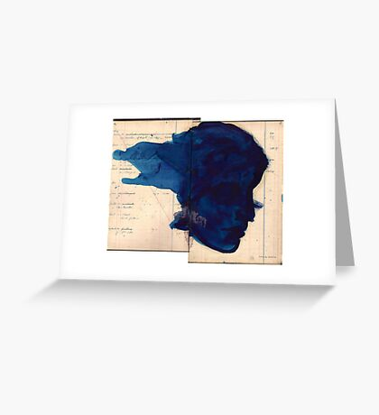 blue profile Greeting Card