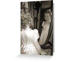 Looking in the mirror Greeting Card