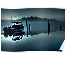 'Stillness at Dawn,' Kinloch Lodge, South Island, New Zealand Poster