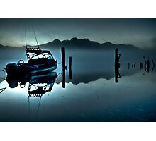 'Stillness at Dawn,' Kinloch Lodge, South Island, New Zealand Photographic Print