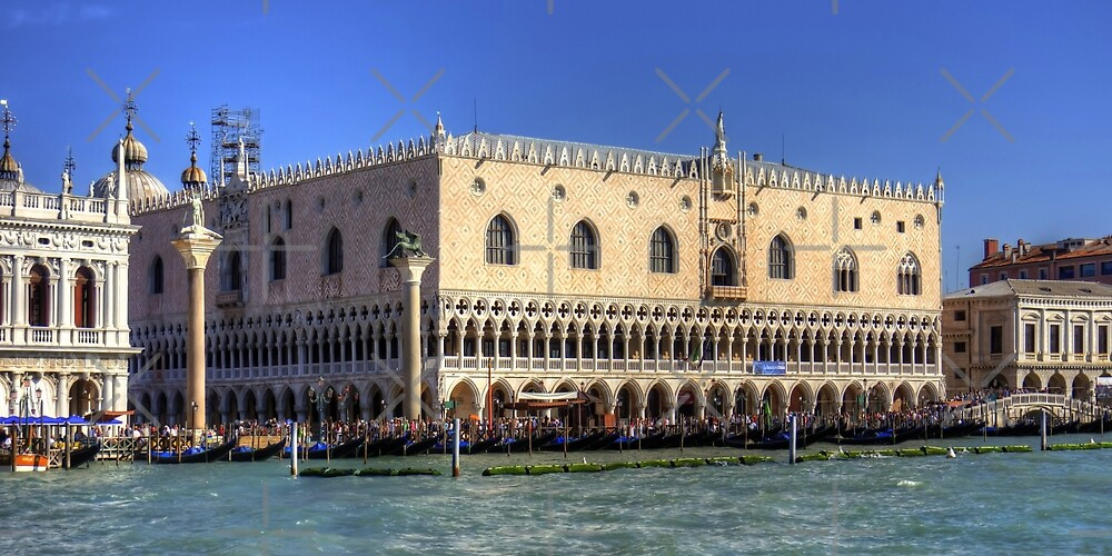 Doge's Palace from the Giudecca Canal by Tom Gomez