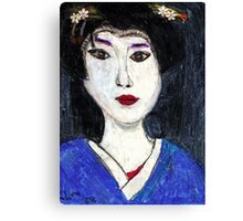 Portrait Of A Geisha Canvas Print