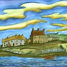174 - BISHOPS QUAY, NORTH BLYTH - DAVE EDWARDS - WATERCOLOUR - 2007 by BLYTHART