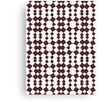Brown & White Geometric Abstract Design Pattern Canvas Print