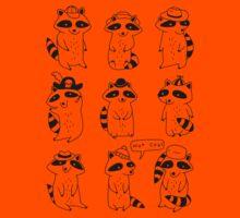 Raccoon Hat Party Kids Tee