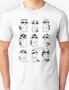 Raccoon Hat Party T-Shirt