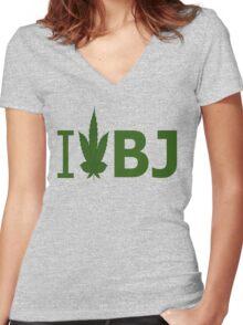 I Love BJ Women's Fitted V-Neck T-Shirt