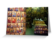 Shop with icons Greeting Card