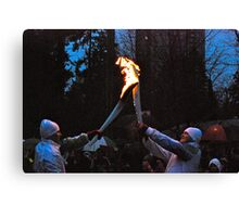 Passing the Flame! Canvas Print