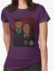 Gay Wedding Artwork 2 Womens Fitted T-Shirt