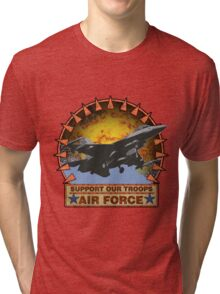 Air Force F-16, Support our Troops Tri-blend T-Shirt