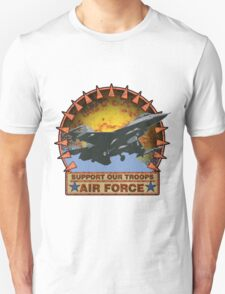 Air Force F-16, Support our Troops T-Shirt