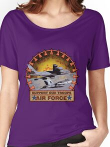 Air Force Refual plane, Support Our Troops Women's Relaxed Fit T-Shirt