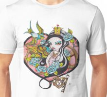 Playing With The Queen of Hearts - Rockabilly Tattoo Style Art Unisex T-Shirt