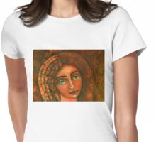 Flora, Goddess of the Seeds closer  Womens Fitted T-Shirt
