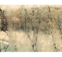 through the misty glass Photographic Print