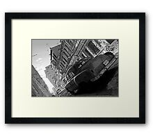 Havana Street scene, black & white Framed Print