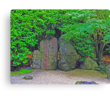 Rock Garden photo painting Canvas Print
