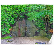 Rock Garden photo painting Poster