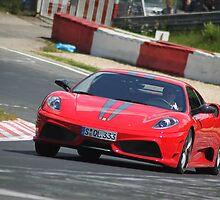 Ferrari at Nurburgring by James Butler