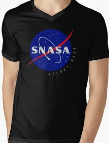SNASA (Secret NASA - Logo) Mens V-Neck T-Shirt