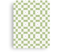 Mint Green & White Geometric Abstract Design Canvas Print