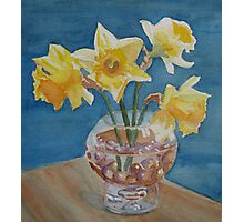 Daffodils and Marbles Photographic Print