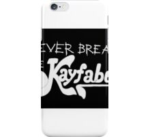 Never break kayfabe wrestling iPhone Case/Skin