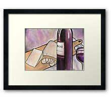 Wine and Cheese Tonight Framed Print