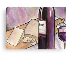 Wine and Cheese Tonight Canvas Print