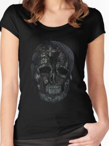 Plant Skull (4) Women's Fitted Scoop T-Shirt