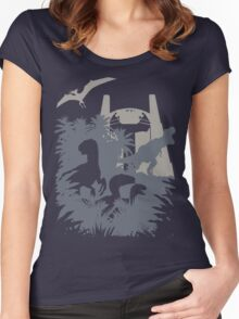 Welcome to Jurassic World  Women's Fitted Scoop T-Shirt