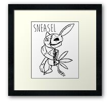 Sneasel's Inner Workings: Pokemon Anatomy Framed Print