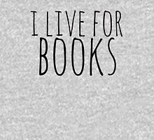 i live for books Womens Fitted T-Shirt